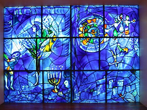 Gifts Delight Laminated 22x16 Poster: Marc Chagalls- America Windows at The Art Institute of Chicago