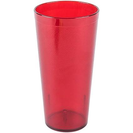 16 OZ RED 12PK Restaurant Break Resistant Drinking Glass Cups Plastic Tumblers