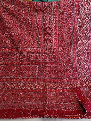 Tribal Asian Textiles Queen Size Ikat Kantha Quilt, for sale  Delivered anywhere in USA