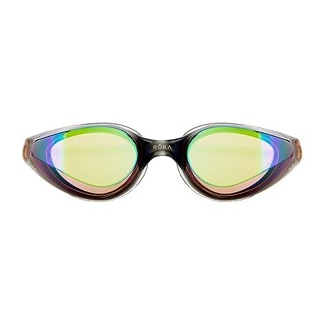 890a2c0ea41 ROKA R1 Anti-Fog Swim Goggles with RAPIDSIGHT Razor Sharp Optics - Amber  Mirror
