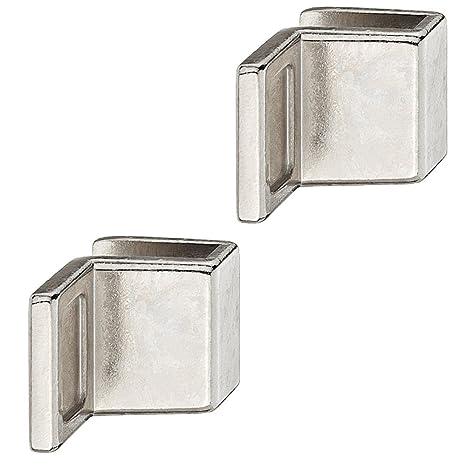 2x GedoTec Manija puerta de vidrio Manijas de muebles para ...