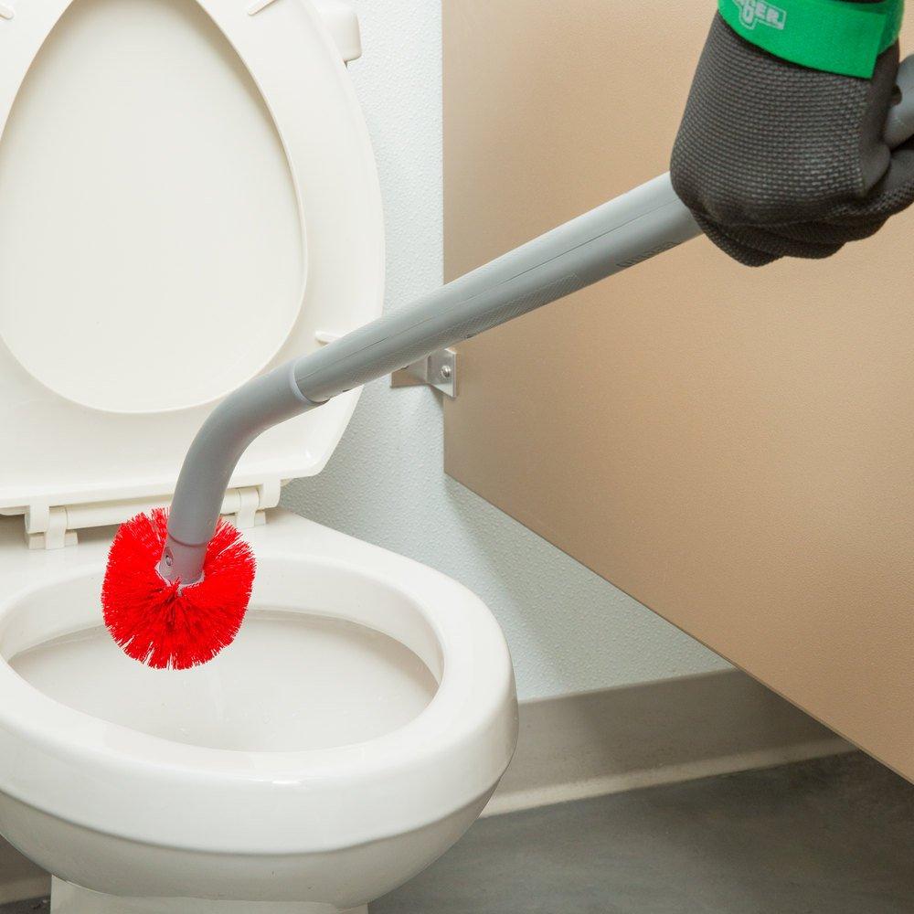 Unger BBCOR Ergo 26'' Toilet Bowl Brush with 2 Nylon Bristle Heads