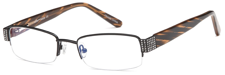 Womens Semi-Rimless Glasses Frames Prescription Eyeglasses Rxable 49-17-135