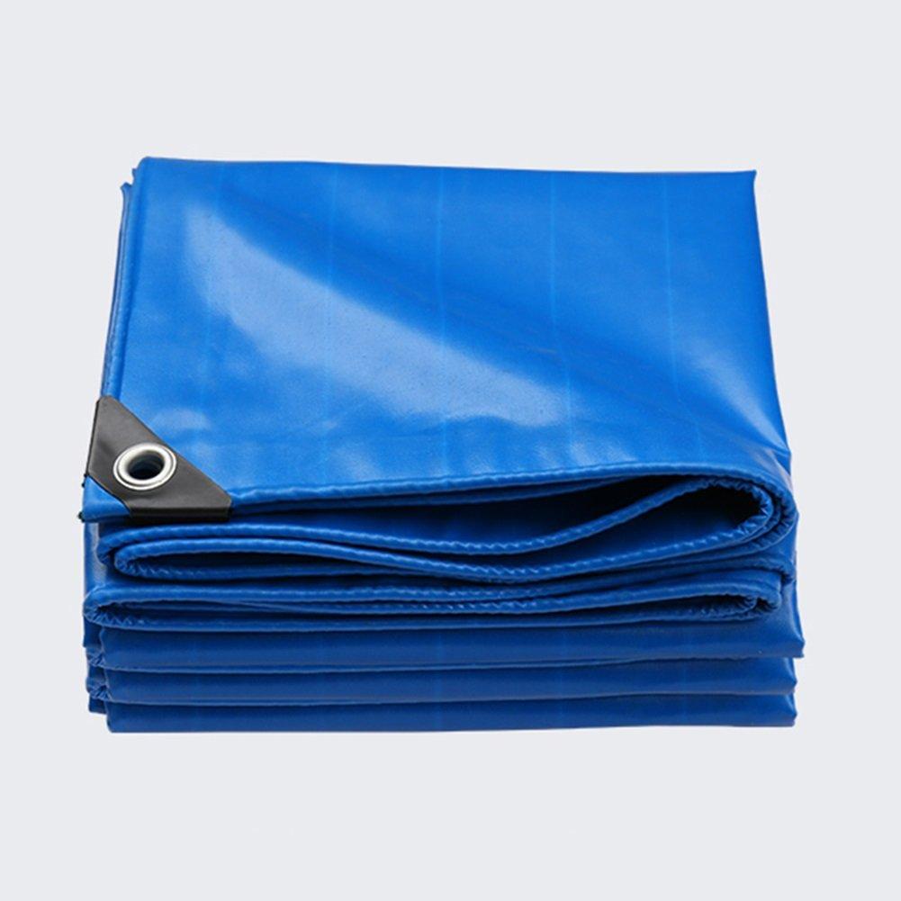 WUFENG オーニング 両面 防水 雨布 耐摩耗性 リノリウム 日焼け止め キャンバス シェード キャノピー ハーディー 帯電防止 厚さ0.45mm 550g/M2 (色 : 青, サイズ さいず : 4x4m) B07D8VCWHB 13088 4x4m|青 青 4x4m