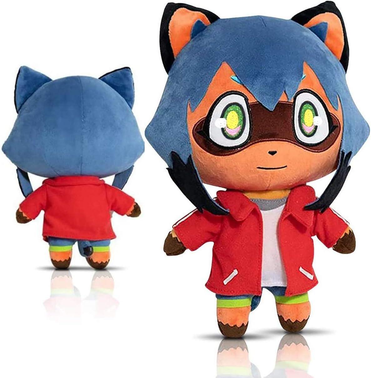Anime Soft Raccoon Plush Toy, Stuffed Animal Plush Doll Cartoon Figure Soft Sleeping Cuddle Buddy,Bedding, Decoration, Kawaii Gift for Kids