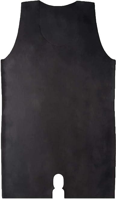 Brand New Latex Rubber Gummi Black Catsuit Body Suit Vest one size