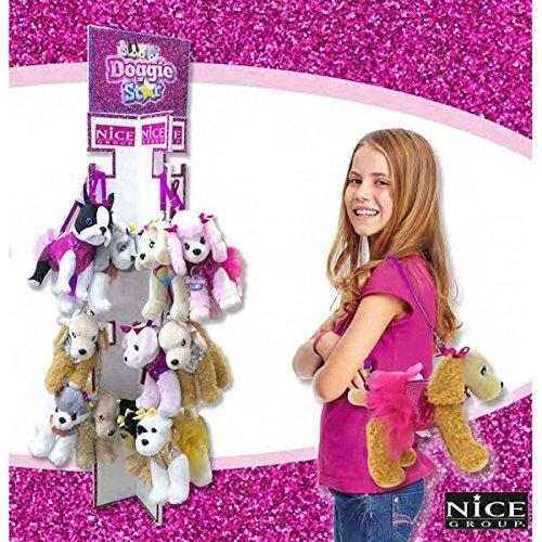 Doggie Star® Borsa Originale a Forma di Cane ( 1 Pezzo Casuale ) - Doggie Star Bag Borsetta Borsa Peluche Cane Bambina Bambine Cuccioli Cucciolo doggiestar