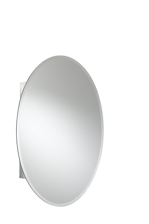 Croydex WC101569 - Armadietto in alluminio con 1 sportello ovale, 53,5 x 78,5 cm