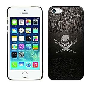 Shell-Star Arte & diseño plástico duro Fundas Cover Cubre Hard Case Cover para Apple iPhone 5 / iPhone 5S ( Pirate Symbol Sign Skull Swords Ship Sail )