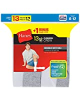 Hanes mens Cushion Crew Socks 6-Pack (184/6)