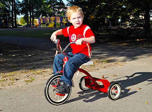 Kettler Classic Flyer by 12'' Retro Trike with Adjustable Seat: Candy Apple Red, Youth Ages 1.5 to 4 by Kettler (Image #2)