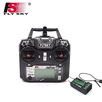 Flysky FS-i6X FS I6X 2 4G 6CH RC Transmitter Controller iA6B Receiver for  RC Helicopter Multi-Rotor Drone(Model_2)