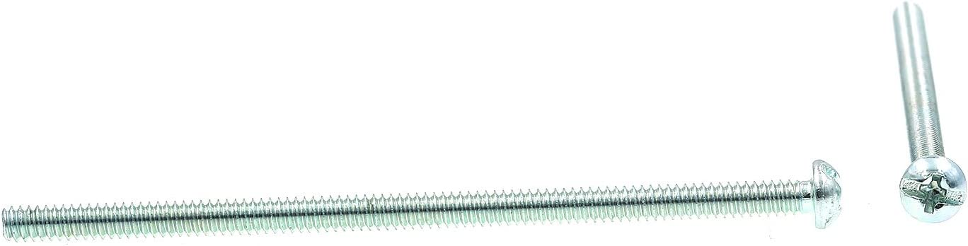 #6-32 X 3 in Pack of 100 Round Head Zinc Plated Steel Slotted//Phillips Combo Prime-Line 9003400 Machine Screw