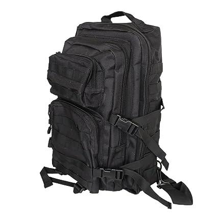 MOLLE - Mochila táctica para excursionismo con una sola cinta, acolchada, color negro
