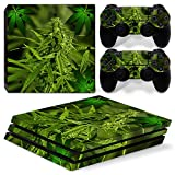 MODFREAKZ™ Console and Controller Vinyl Skin Set - Weed Bud for PS4 Pro