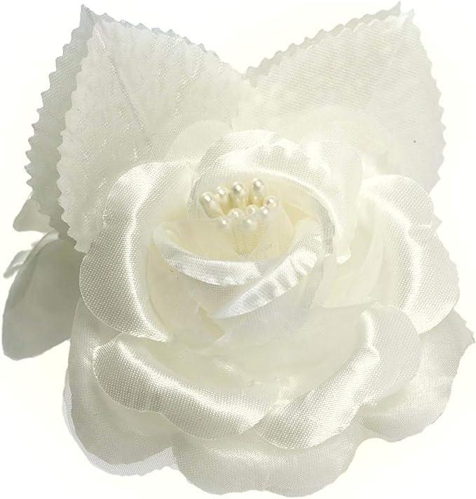 "12 silk roses wedding favor flower corsage mauve dusty rose 2.75/"""