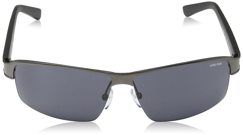 793331dc100 Amazon.com  Police sunglasses S 8855 Force 0627 Metal Grey Grey  Clothing