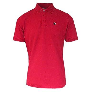 b73dd8712d Fila Mens Vintage White Line Red Classic Retro 80s Casual Brizzi Polo Shirt  M