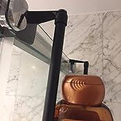 mDesign Organizador de ducha para colgar sobre la mampara ...