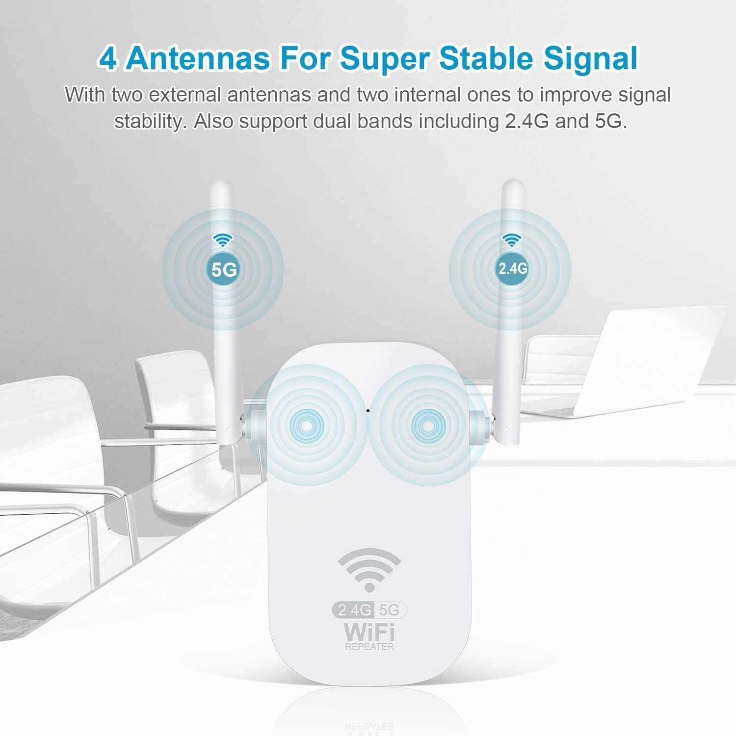 WiFi Range Extender 1200Mbps WiFi Booster AC1200 for The Hourse Repeater 2.4 /& 5GHz Dual Band WPS Wireless Signal Strong Penetrability Wide Range of Signals Enjoy Gaming 2000FT