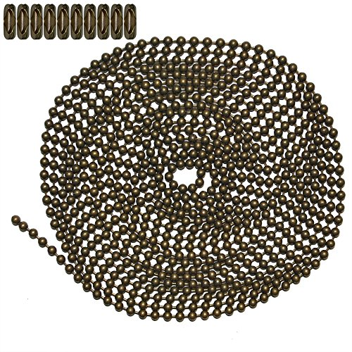 10 Foot Length Ball Chain, Number 6 Size, Medieval
