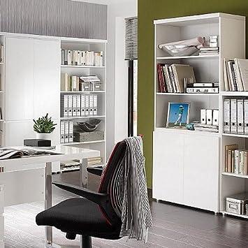 Büroschrank weiß mit türen  Unbekannt lounge-zone Design Büroschrank mit Regalteil TARANTO weiß ...