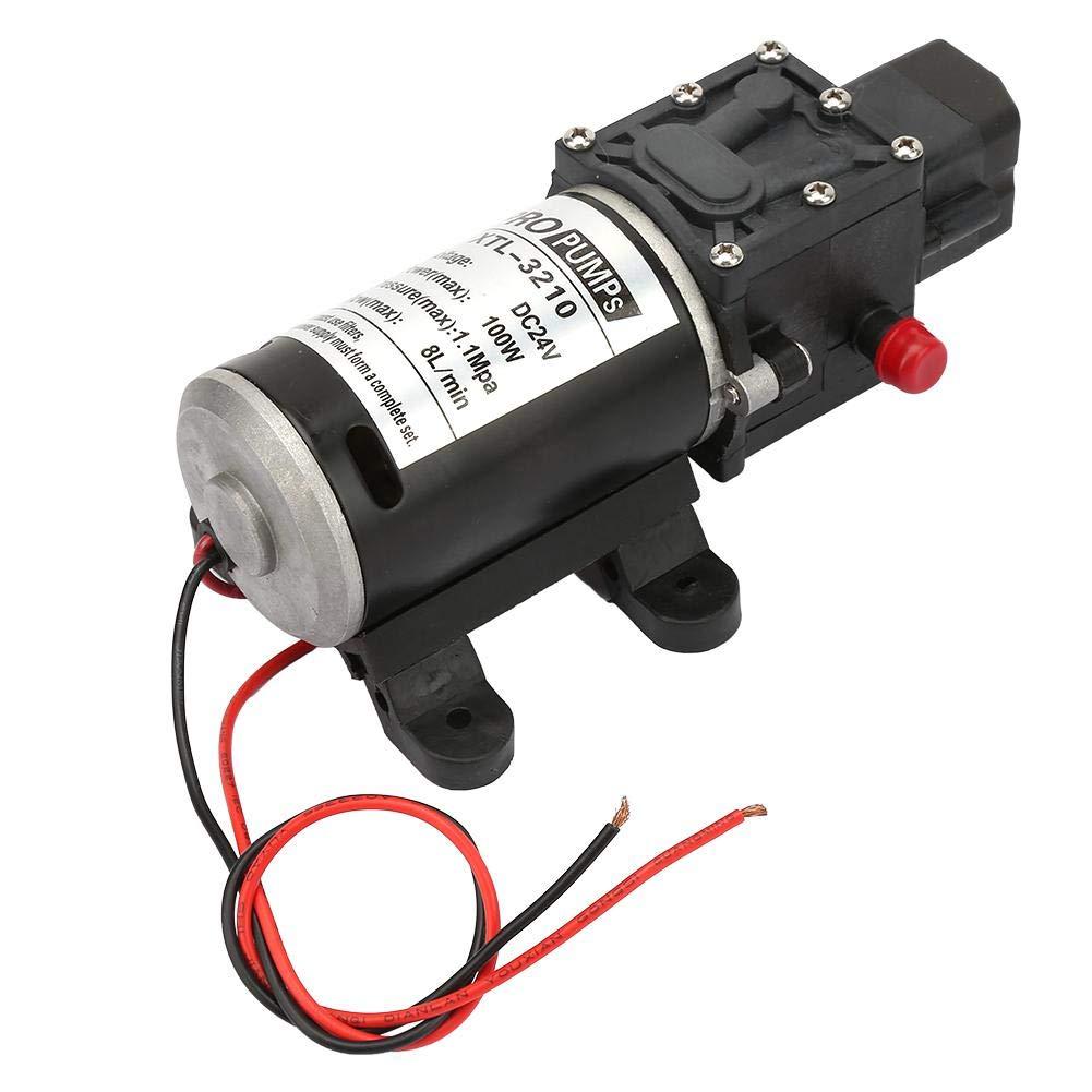 24V 100W Bomba de Agua Diafragma,Bomba de Diafragma 24v Eléctrica de Alta Presión para Limpieza del Hogar,Limpieza de Vehículo y Riego de Jardines con Interruptor de Presión