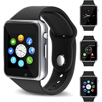 Smart Watch - 321OU Touch Screen Bluetooth Smart Wrist Watch Smartwatch Phone Fitness Tracker with SIM SD Card Slot Camera Pedometer for iPhone iOS Samsung ...