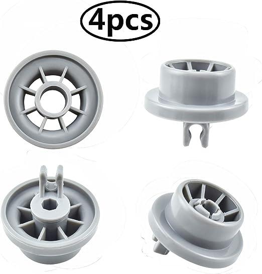 clip ruota inferiore rack per lavastoviglie per Bosch Neff Siemens AP2802428 PS3439123 parte ricambio 165314 Ansblue 4Packs Ruote lavastoviglie Bosch165314
