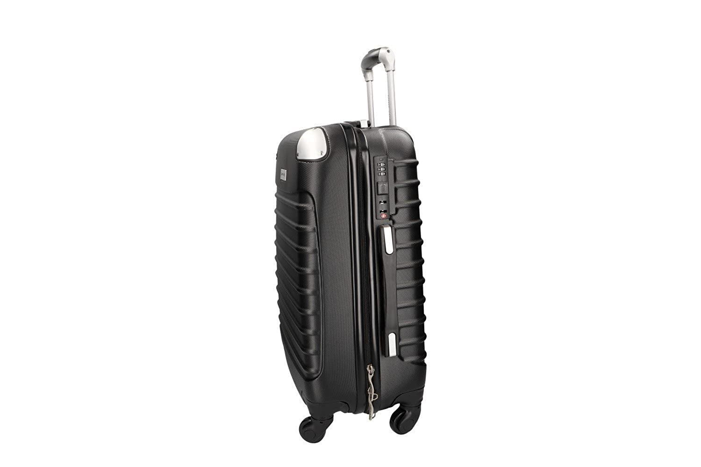 Maleta rígida PIERRE CARDIN negro mini equipaje de mano ryanair 4 ruedas: Amazon.es: Ropa y accesorios