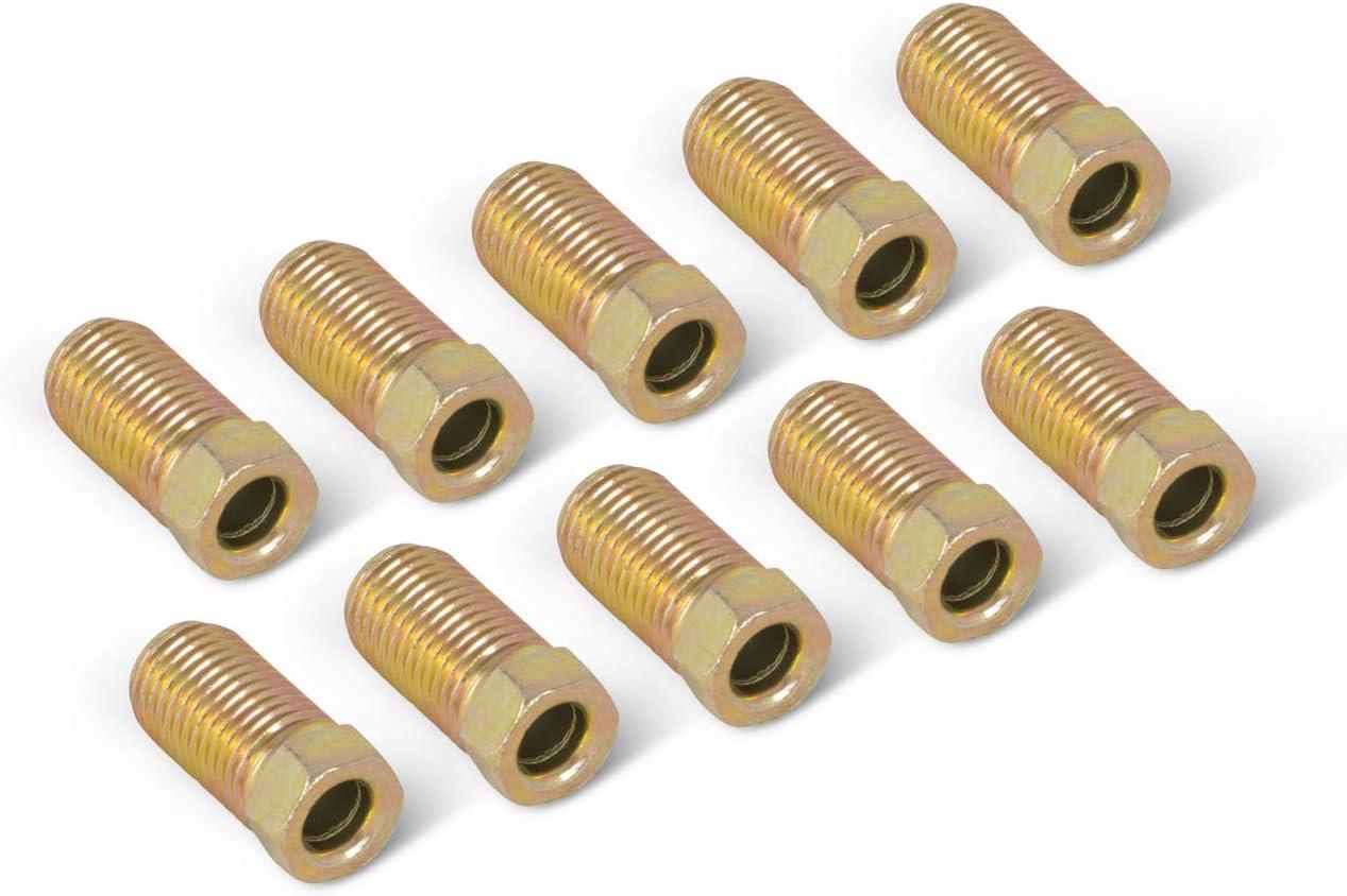 """3//16/"""" Brake Line 8 Inch OE Zinc Steel 90 Degree Bend Flared 3//8-24 Tube Nut SAE"""