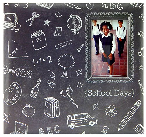 MCS MBI 13.5x12.5 Inch School Days Chalkboard Scrapbook Album with 12x12 Inch Pages with Photo Opening (860089) ()