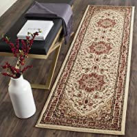 Safavieh Lyndhurst Collection LNH330A Traditional Heriz Ivory and Red Runner (23 x 18)