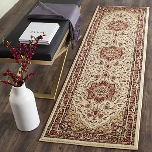 - Safavieh Lyndhurst Collection LNH330A Traditional Heriz Ivory and Red Runner (2'3
