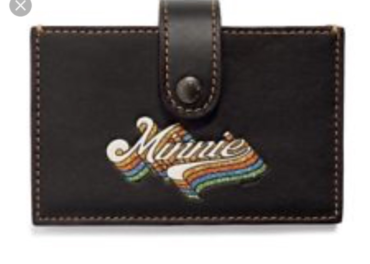 Coach Minnie Miniature Accordion Card case in black 29342