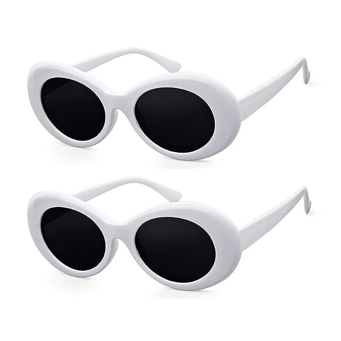 Amazon.com: Anteojos de sol con marco ovalado grueso, estilo ...