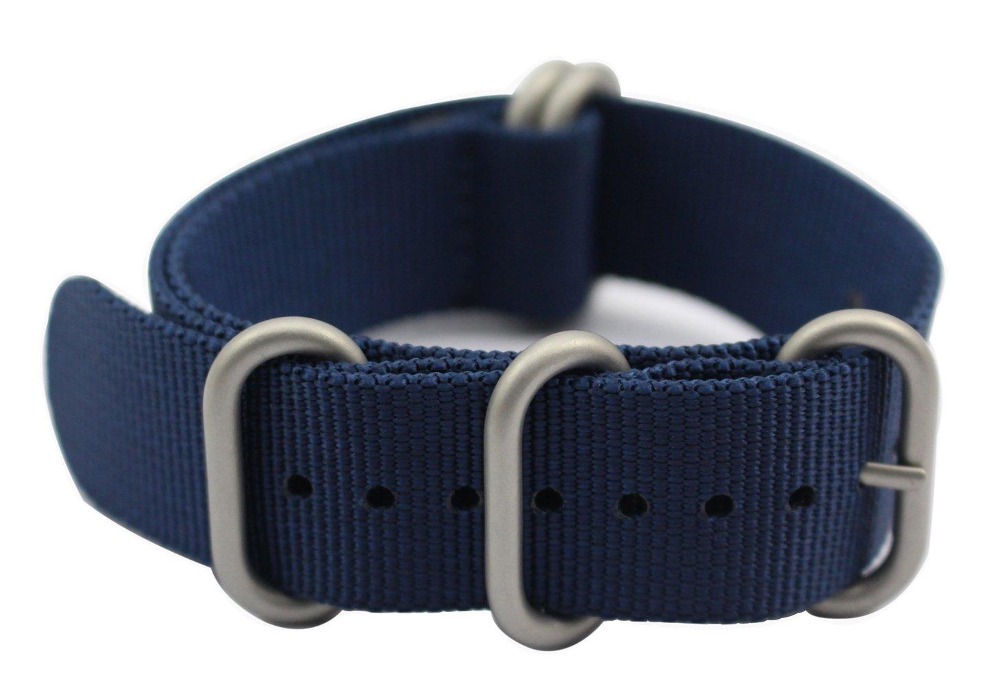 アートスタイル 腕時計バンド 厚さ1.5mm 良質ナイロンストラップ 丈夫なつや消しバックル 22mm ブルー 22mm ブルー ブルー 22mm B01BBPFWPK