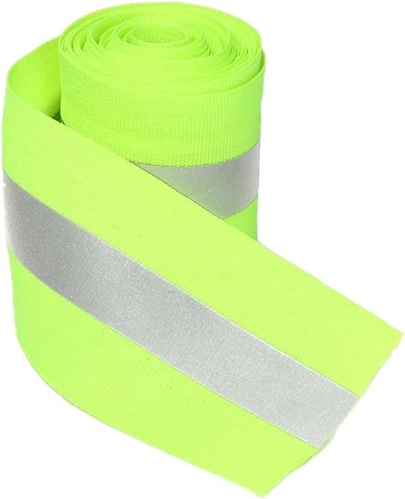 Cintas Adhesivas Reflectante Tira de Costura Tela Seguridad Sintetizador Color Limón Verde 3 Metros: Amazon.es: Coche y moto