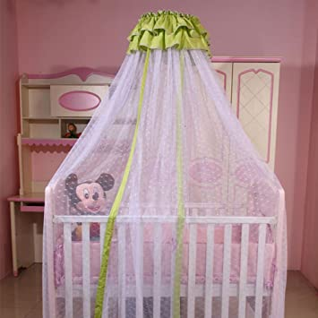 CUTI Baby Girls Boys Mosquito Net Crib Bed Canopy Nursery Dome Curtains Green Lace Decor & Amazon.com : CUTI Baby Girls Boys Mosquito Net Crib Bed Canopy ...