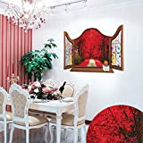 Sunshinebag Wall Stickers Room Decals Home Decor European Window Sea View Castle Living Room Wall Stickers