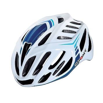 SUOMY Casco Bicicleta Timeless blanco/3blu Talla M (Cascos MTB y carretera)/