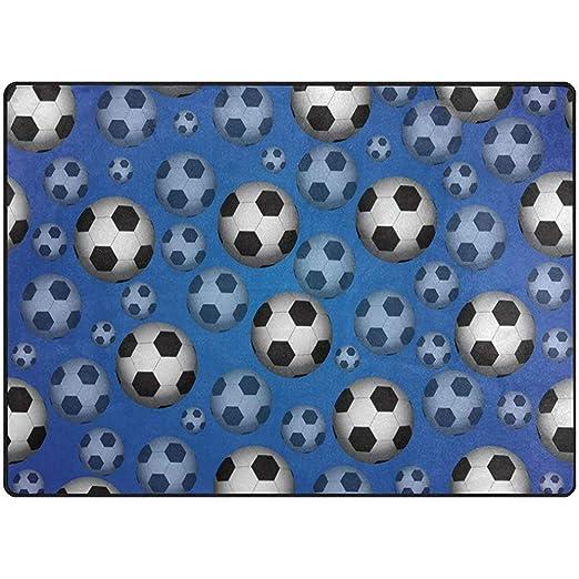 Trista Bauer Alfombras de Gran tamaño Balón de fútbol de 60 x 39 ...