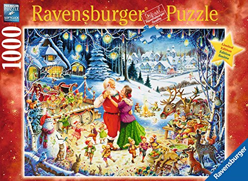 Santa's Christmas Party 1000 Piece Jigsaw Puzzle for Adults - Every Piece is Unique, Softclick Technology Means Pieces Fit Together Perfectly - Limited Edition Christmas Holiday Jigsaw Puzzle