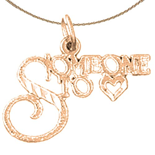 14K Rose Gold-plated 925 Silver I Love You Pendant with 18 Necklace Jewels Obsession I Love You Necklace