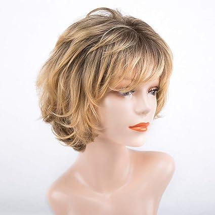 Pelucas Rizadas De La Onda Corta De Señora Blonde Para Cosplay Peluca A Prueba De Calor