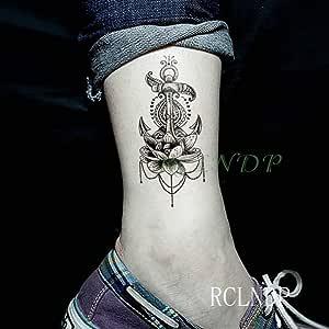Handaxian Pies 5pcs Etiqueta engomada del Tatuaje de Lotus Mujer ...