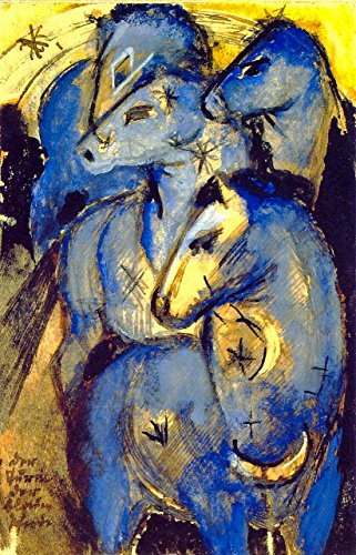 Odsan Gallery Animals - The Tower of Blue Horses - by Franz Marc - Canvas Prints 12
