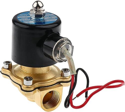 1//2 DC 12V Elektrisches Magnetventil N//C Normal Geschlossen für Wasser Luft KG