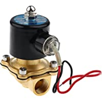 """Generic 12V DC 1/2"""" Brass Electric Solenoid Valve Water Air Fuels Gas Normal Closed New"""