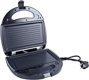 FUNUP Portable Sandwich Maker 3 in 1, Breakfast Maker Waffle Panini Press Maker Grill Cheese with Removable Plates Simple Making Mini Toaster Compact Food Maker(Sandwich Pan+Waffle Pan)